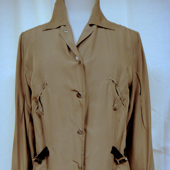 Paola Frani Other - Designer Safari Inspired Jacket Runway Shown Silk